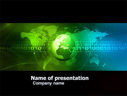 Global: Modelo do PowerPoint - web sobre a terra #04970