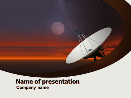 Telecommunication: Parabolic Aerial PowerPoint Template #04972