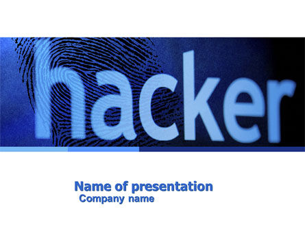 Hacker PowerPoint Template, 04973, Technology and Science — PoweredTemplate.com