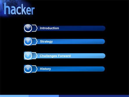 Hacker PowerPoint Template, Slide 3, 04973, Technology and Science — PoweredTemplate.com
