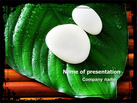 Health and Recreation: White Stones PowerPoint Template #04975