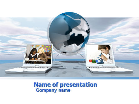 Education & Training: Education and Computer PowerPoint Template #04976