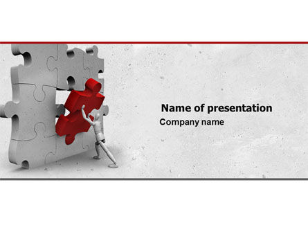 Inserting Missing Part PowerPoint Template, 04980, Consulting — PoweredTemplate.com