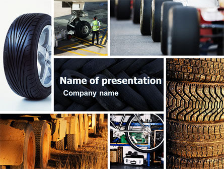 Careers/Industry: Tire PowerPoint Template #04981