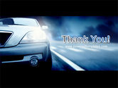 Car On the Road In Twilight PowerPoint Template#20