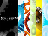 Utilities/Industrial: Gear Wheel PowerPoint Template #04984