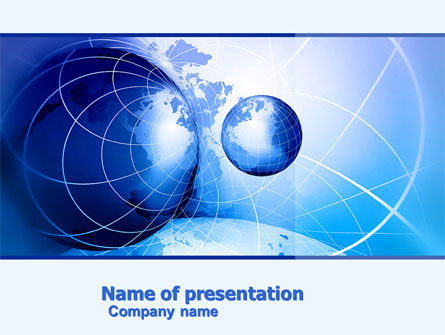Two Worlds PowerPoint Template, 04987, Global — PoweredTemplate.com