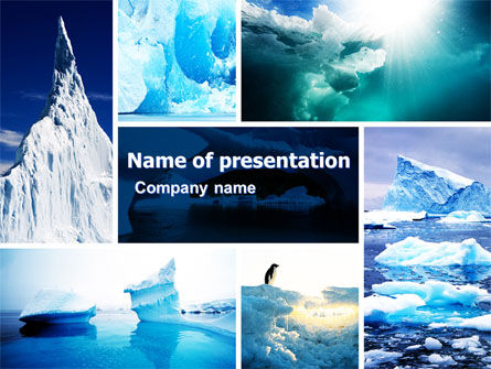 Nature & Environment: Iceberg PowerPoint Template #04989