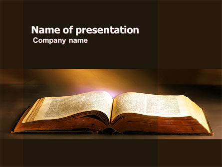 Religious/Spiritual: Holly Book PowerPoint Template #04995
