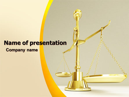 Legal: Fairness PowerPoint Template #04996