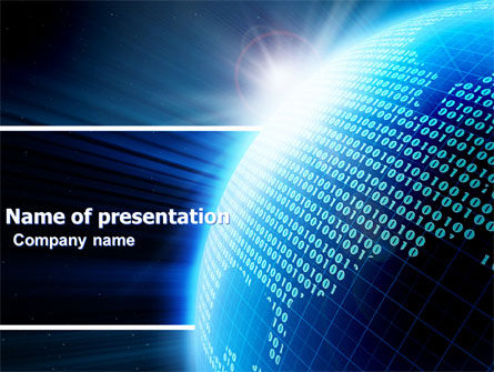Telecommunication: World In Cijfers PowerPoint Template #04997