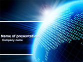 Telecommunication: World In Digits PowerPoint Template #04997