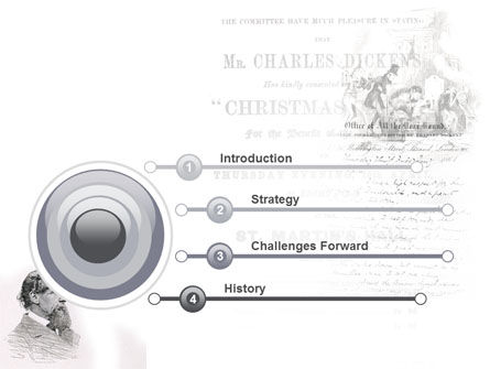 Charles Dickens PowerPoint Template, Slide 3, 04998, Education & Training — PoweredTemplate.com