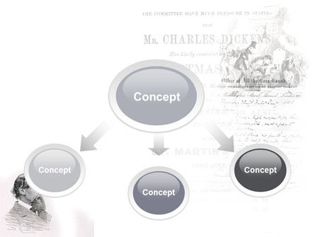 Charles Dickens PowerPoint Template, Slide 4, 04998, Education & Training — PoweredTemplate.com