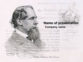 Education & Training: Charles Dickens PowerPoint Template #04998