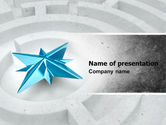 Consulting: Labyrinth Center PowerPoint Template #05000