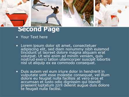 karate powerpoint template, backgrounds | 05001 | poweredtemplate, Presentation templates