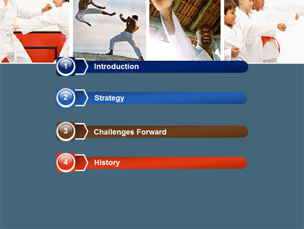 Karate PowerPoint Template, Slide 3, 05001, Sports — PoweredTemplate.com