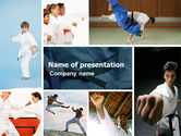 Sports: Karate PowerPoint Template #05001
