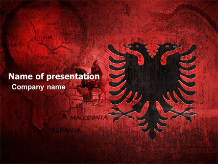 Albania PowerPoint Template, 05002, Flags/International — PoweredTemplate.com