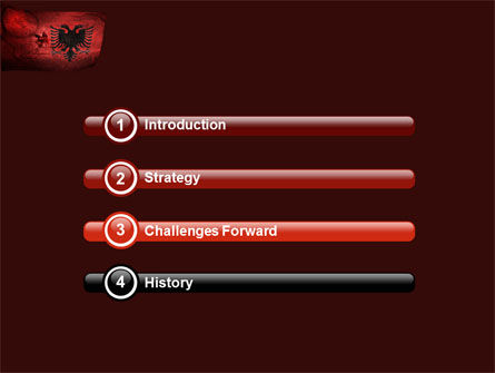 Albania PowerPoint Template, Slide 3, 05002, Flags/International — PoweredTemplate.com