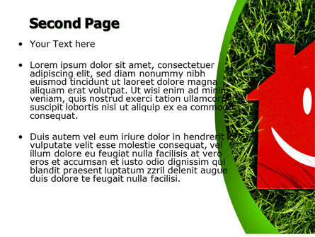 Red Home PowerPoint Template Slide 2