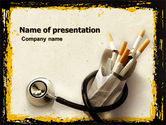 Medical: Smoking Kills PowerPoint Template #05004