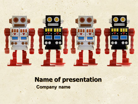 Technology and Science: Robots PowerPoint Template #05005