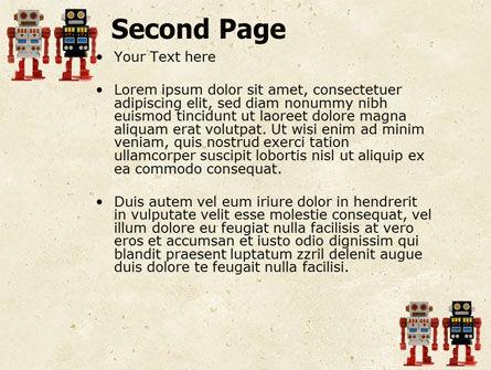 Robots PowerPoint Template, Slide 2, 05005, Technology and Science — PoweredTemplate.com