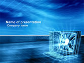 Technology and Science: Personal Computer Wired Model PowerPoint Template #05007