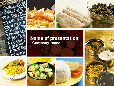 Food & Beverage: Indian Food PowerPoint Template #05011