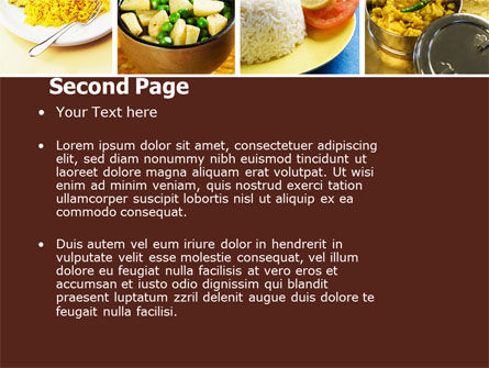 Indian Food PowerPoint Template, Slide 2, 05011, Food & Beverage — PoweredTemplate.com
