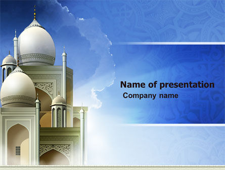 islamic architecture powerpoint template backgrounds 05013