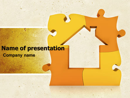 Consulting: Townhouse Planning PowerPoint Template #05014
