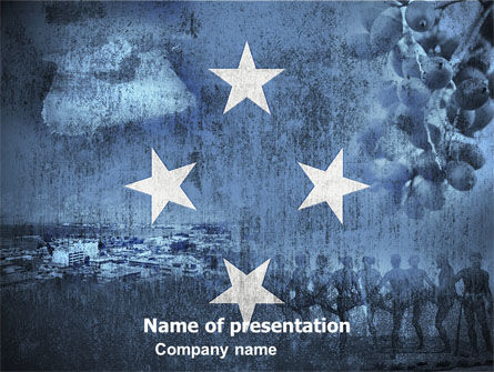 Flags/International: Micronesia Free PowerPoint Template #05016