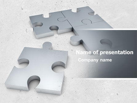 Gray Jigsaw PowerPoint Template, 05018, Consulting — PoweredTemplate.com