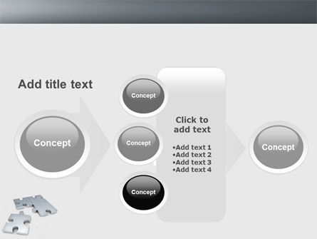 Gray Jigsaw PowerPoint Template Slide 17