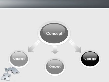 Gray Jigsaw PowerPoint Template Slide 4