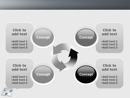 Gray Jigsaw PowerPoint Template Slide 9