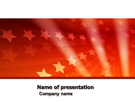 Abstract/Textures: Red Stars PowerPoint Template #05019