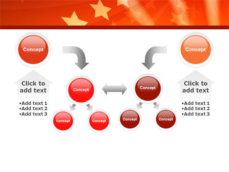 Red Stars PowerPoint Template Slide 19