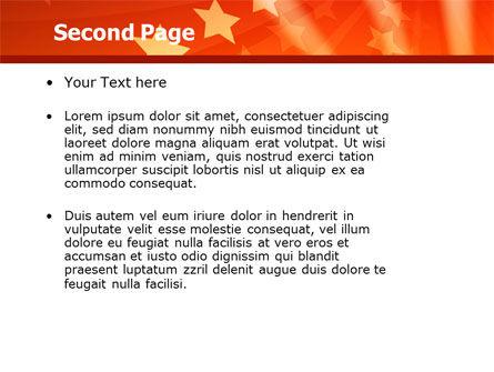 Red Stars PowerPoint Template, Slide 2, 05019, Abstract/Textures — PoweredTemplate.com