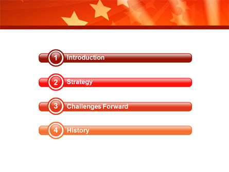 Red Stars PowerPoint Template Slide 3