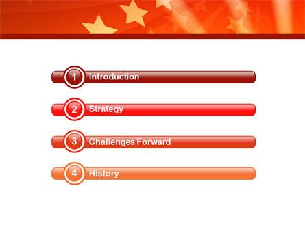 Red Stars PowerPoint Template, Slide 3, 05019, Abstract/Textures — PoweredTemplate.com