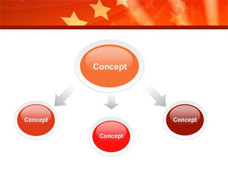 Red Stars PowerPoint Template, Slide 4, 05019, Abstract/Textures — PoweredTemplate.com
