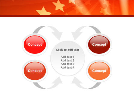Red Stars PowerPoint Template Slide 6