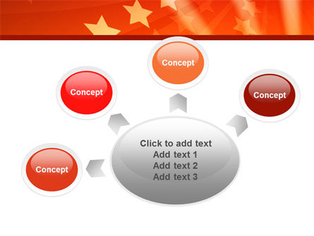 Red Stars PowerPoint Template Slide 7