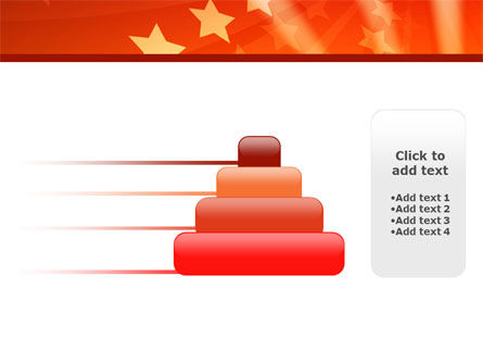 Red Stars PowerPoint Template Slide 8