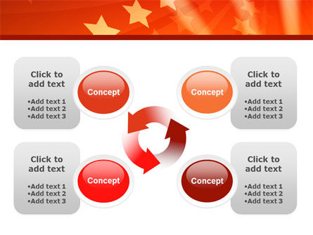 Red Stars PowerPoint Template Slide 9