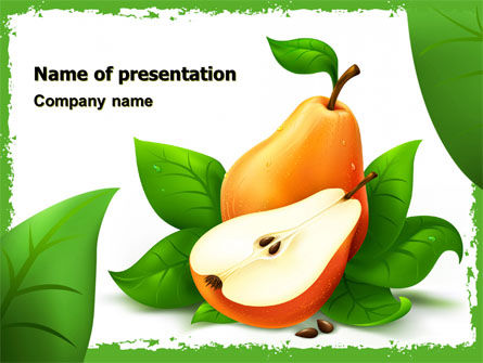 Free Pear PowerPoint Template, 05020, Food & Beverage — PoweredTemplate.com